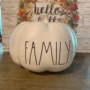 Rae Dunn medium sized Family pumpkin